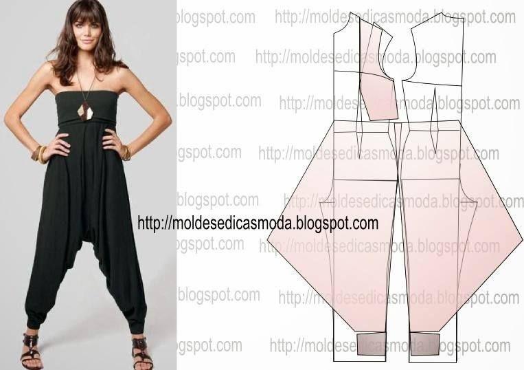 molde pantalón babucha | vestidos | Pinterest | Sewing, Pattern y ...