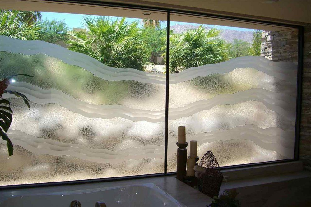Abstract Etched Glass Doors Etched Glass Window Sans Soucie Art