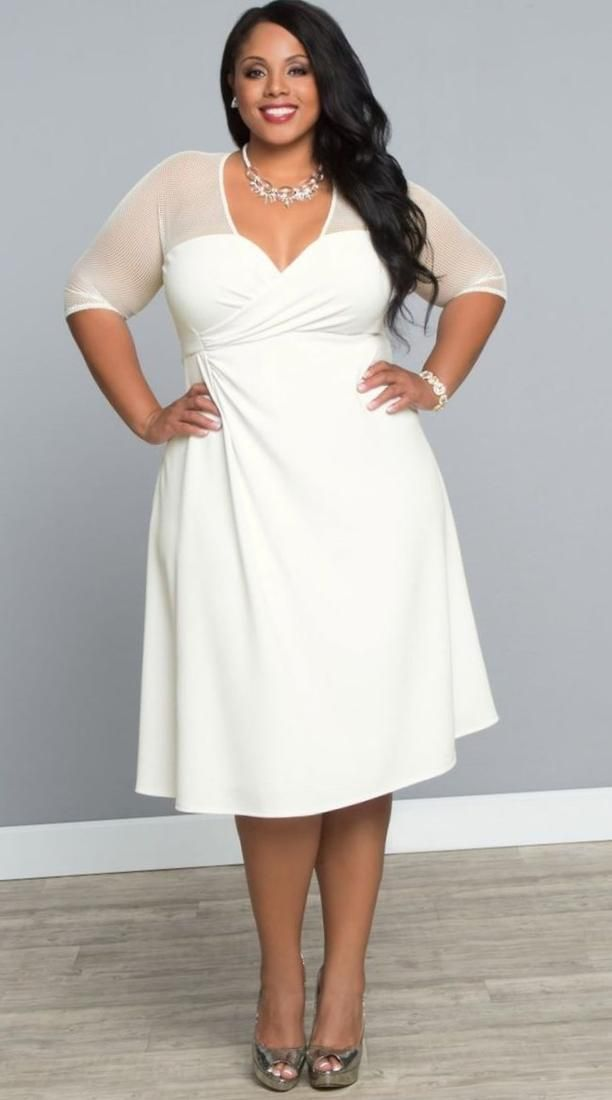 Pin by Gretmar Ferwill on Ropa | White plus size dresses ...