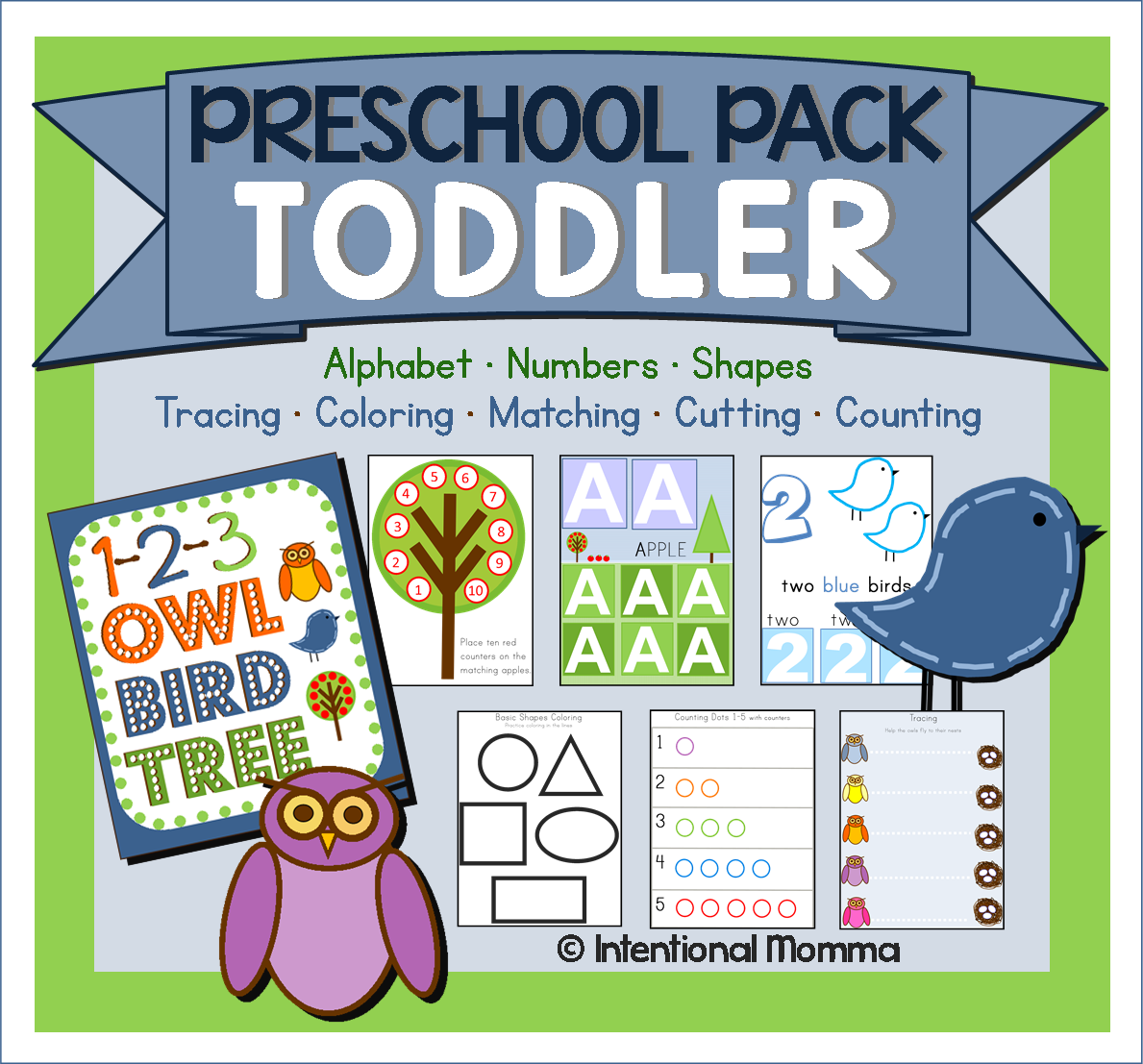 Preschool Pack For Toddlers Printable Pack Of Worksheets