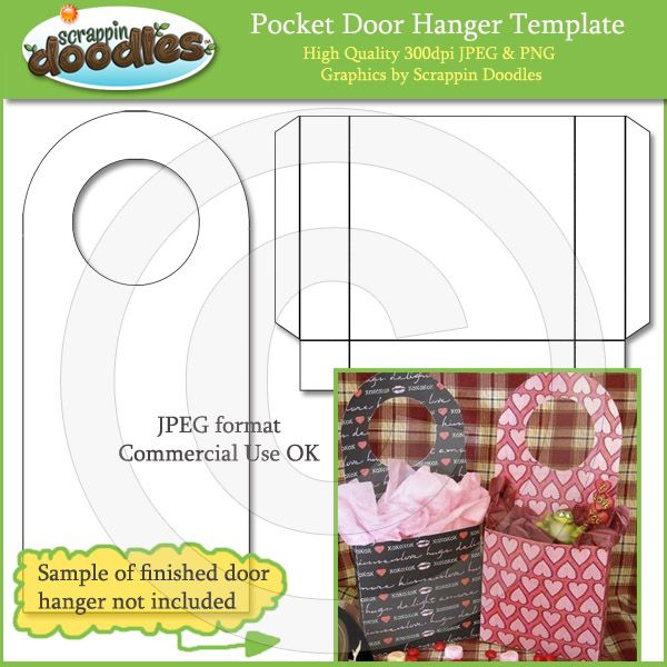 Pocket Door Hanger Template Download  Book Folding