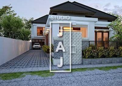 desain rumah luas 450 m2 milik bu devi batam di 2020