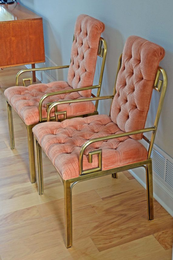 Pair of Vintage Mastercraft Greek Key Chairs Pair 2 of 2 1500