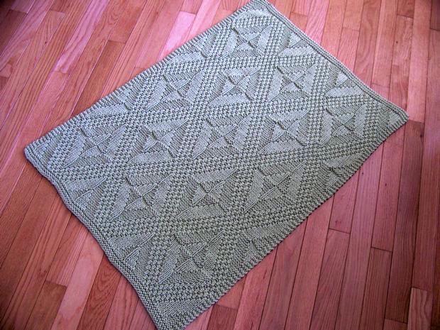 Really Reversible Bath Mat, Baby Blanket & Afghan - Knitting ...