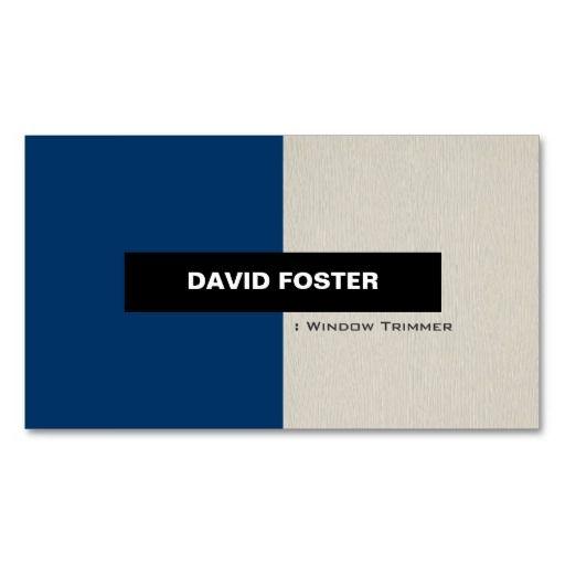 Window Trimmer - Simple Elegant Stylish Business Card Templates