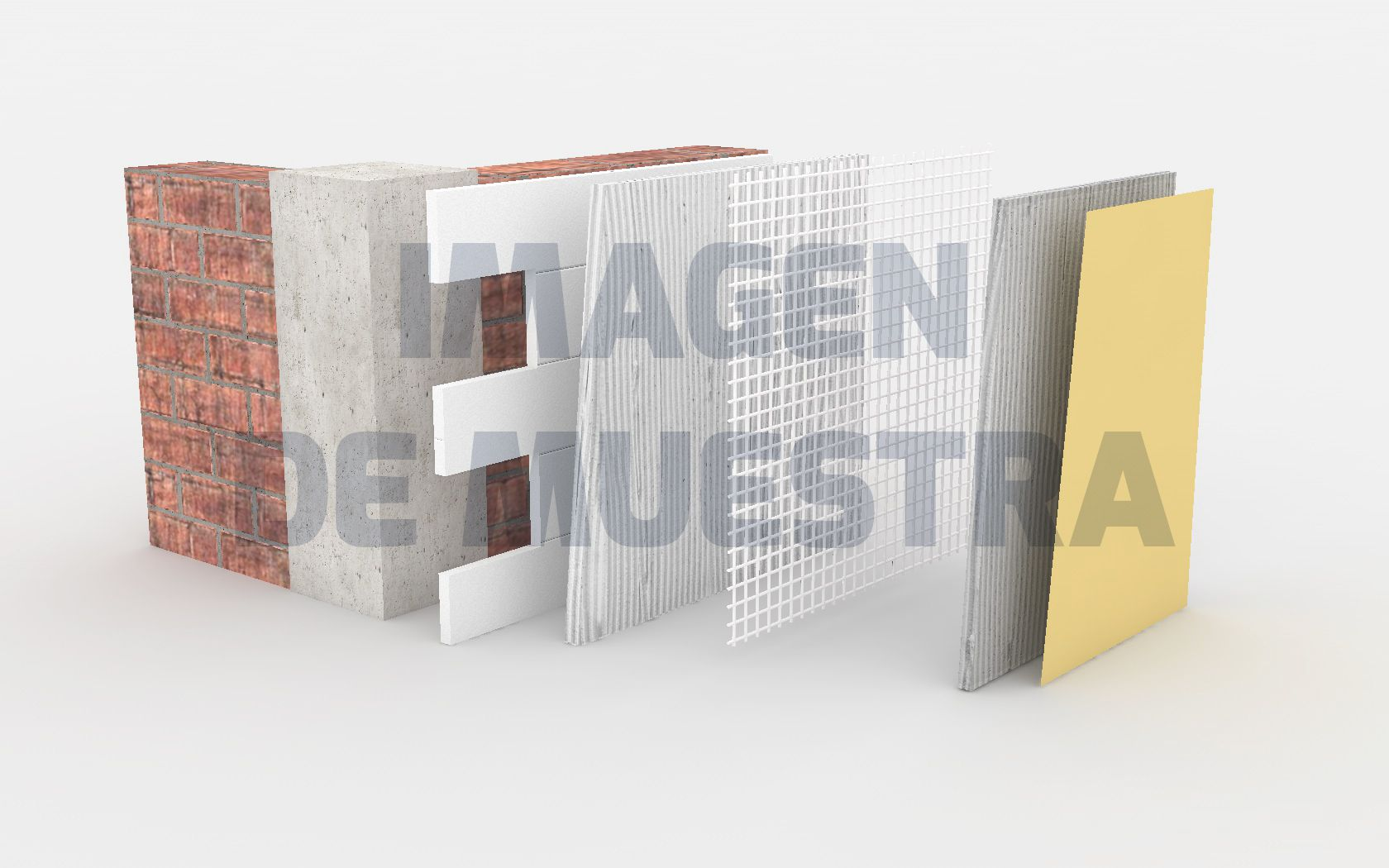 Wall cutaway render Product infographic / mesh_01