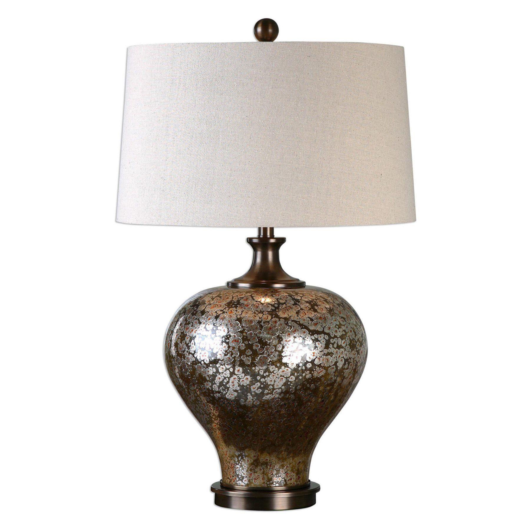 Uttermost Liro Table Lamp 271541 Mercury glass table