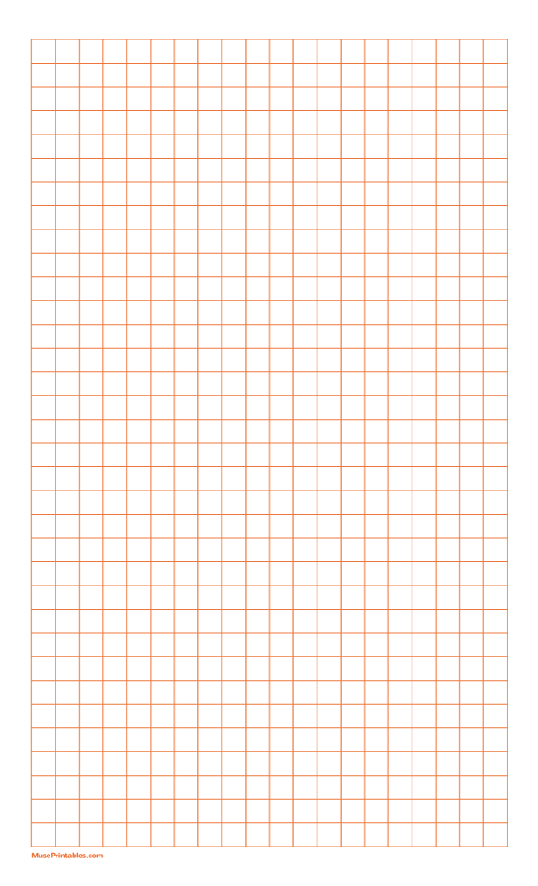 Printable 3 8 Inch Orange Graph Paper For Legal Paper Printable Graph Paper Graph Paper Paper Template