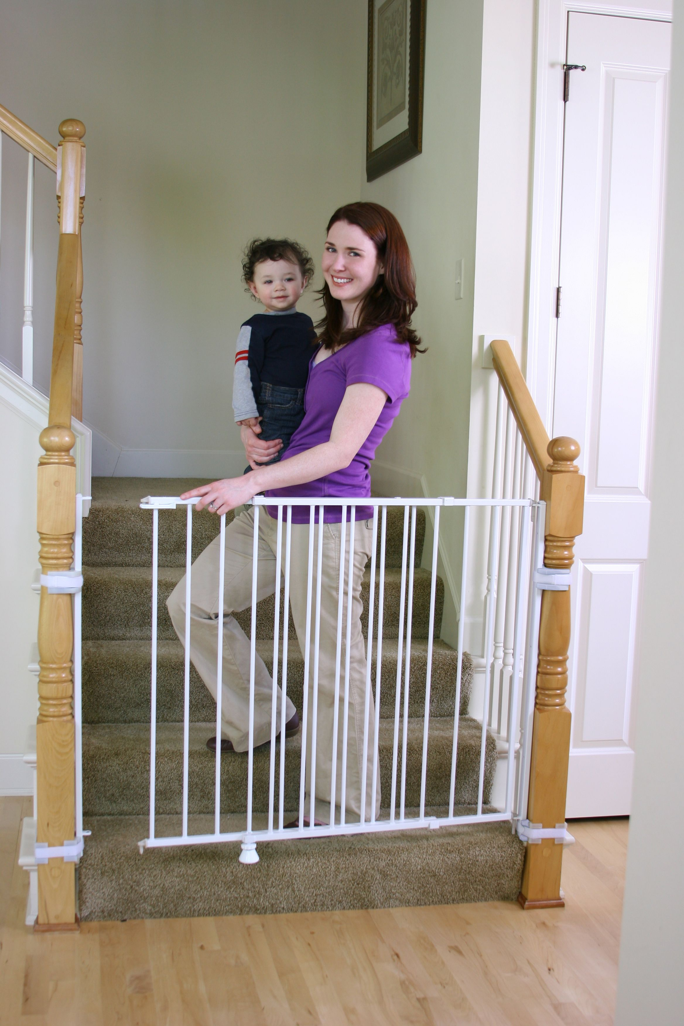 Extra Tall Top Of Stairs Baby Gate In 2020 Top Of Stairs