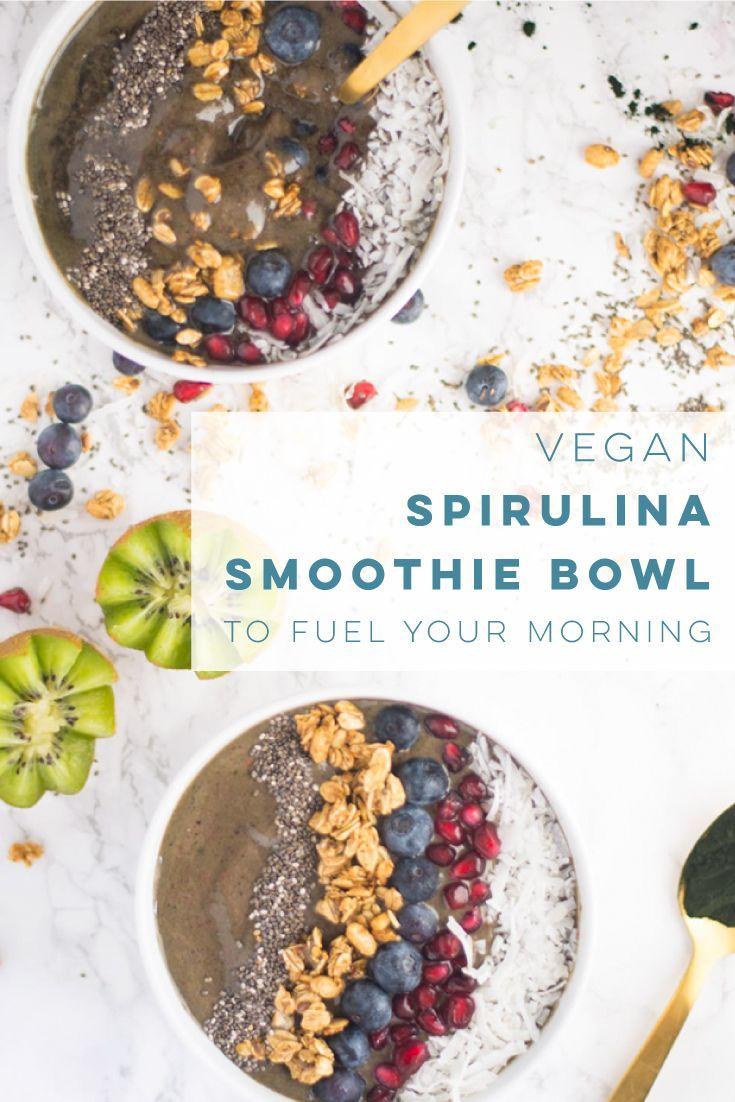 Vegan spirulina smoothie bowls are the BEST way to start your day! You can even make them the night before and just thaw for an easy and healthy breakfast. spirulina smoothie bowls are the BEST way to start your day! You can even make them the night before and just thaw for an easy and healthy breakfast. | mindfulavocado
