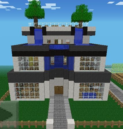 a minecraft house. even though it is a game-designed idea, it is