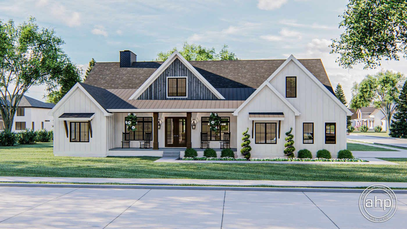 1 Story Modern Farmhouse Style Plan Westchester in 2020