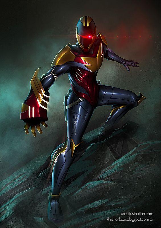 Alpha 7 - The Last Ranger (20th anniversary art) by khriztian on deviantART