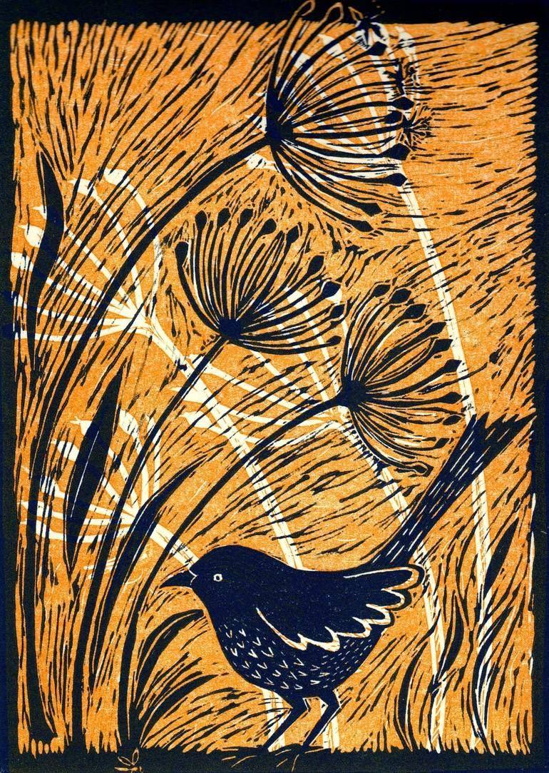 Original Animal Printmaking by Mary Hick   Figurative Art on Other   Bird with Alliums III - Limited Edition of 6 -  Original Animal Printmaking by Mary Hick   Figurative Art on Other   Bird with Alliums III – Limi - #Alliums #Animal #art #bird #edition #Figurative #HICK #III #limited #MARY #Original #Printmaking #Sculpture #WeddingPhotography