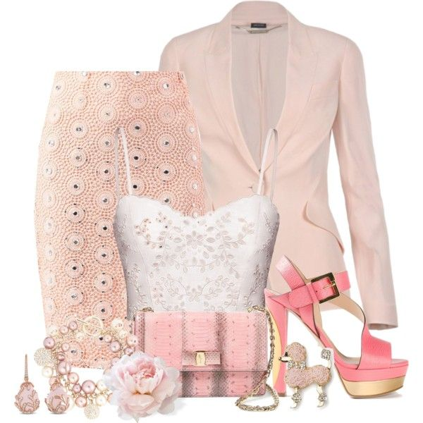 """shades of pink"" by mrswomen on Polyvore"