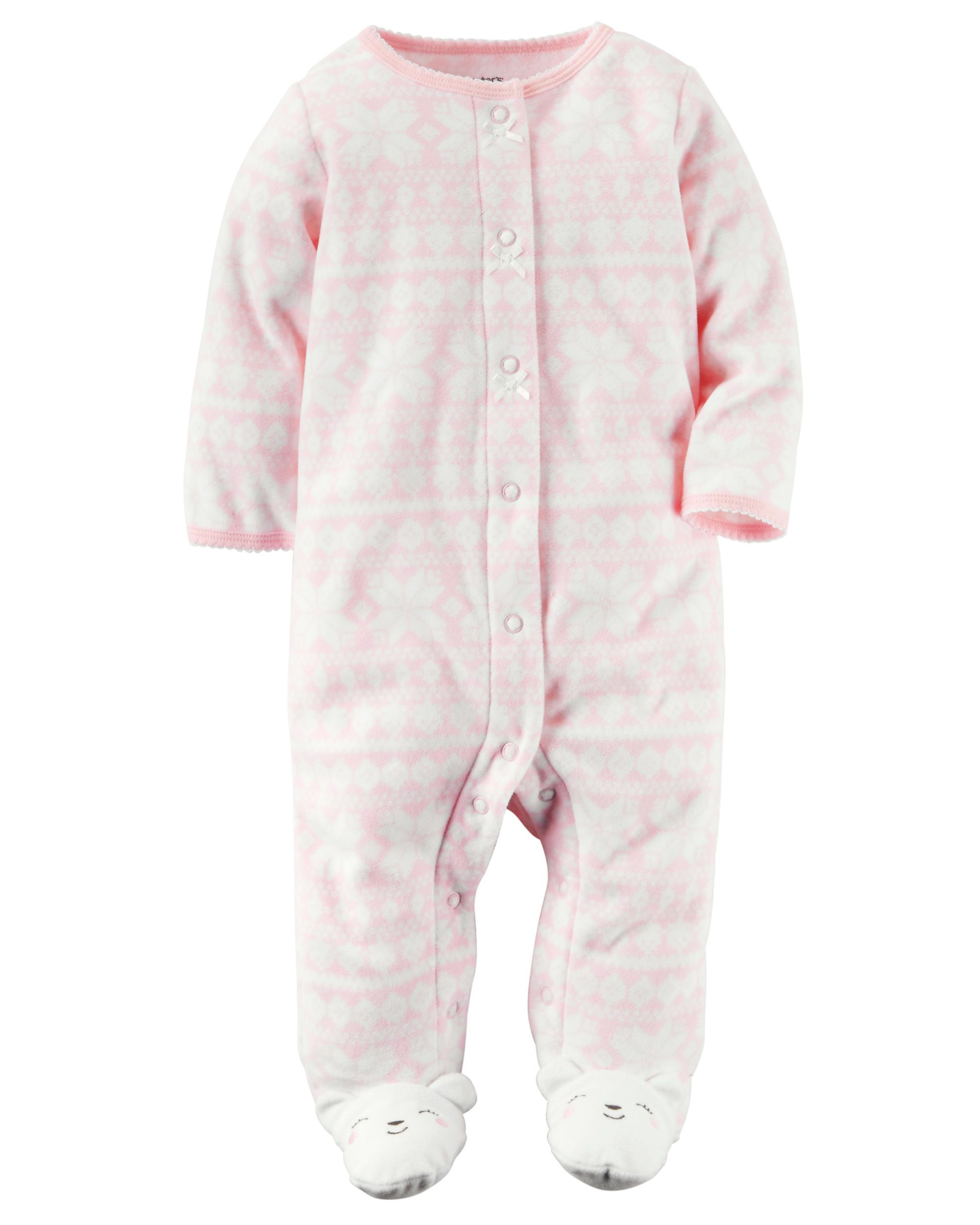 2c9429a61741 FOR JUNE. size 9 months. Baby Girl Fleece Snap-Up Sleep   Play ...