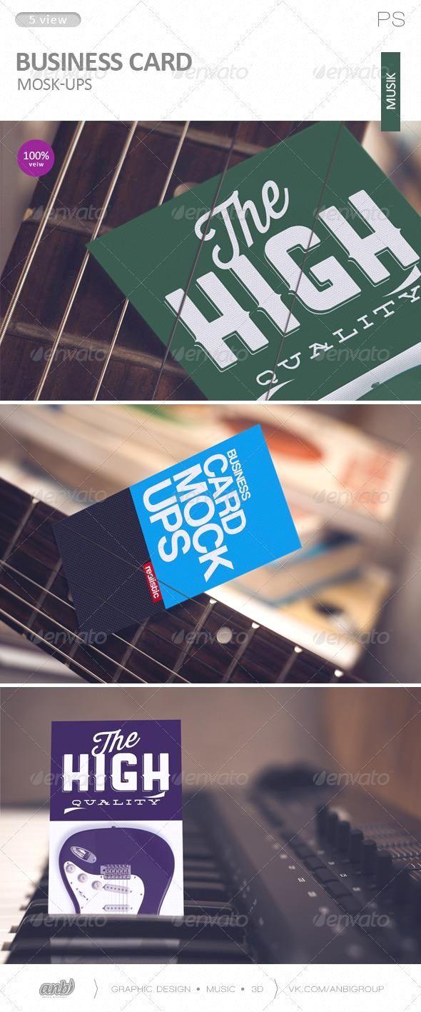 Business Card Mock Ups Musik