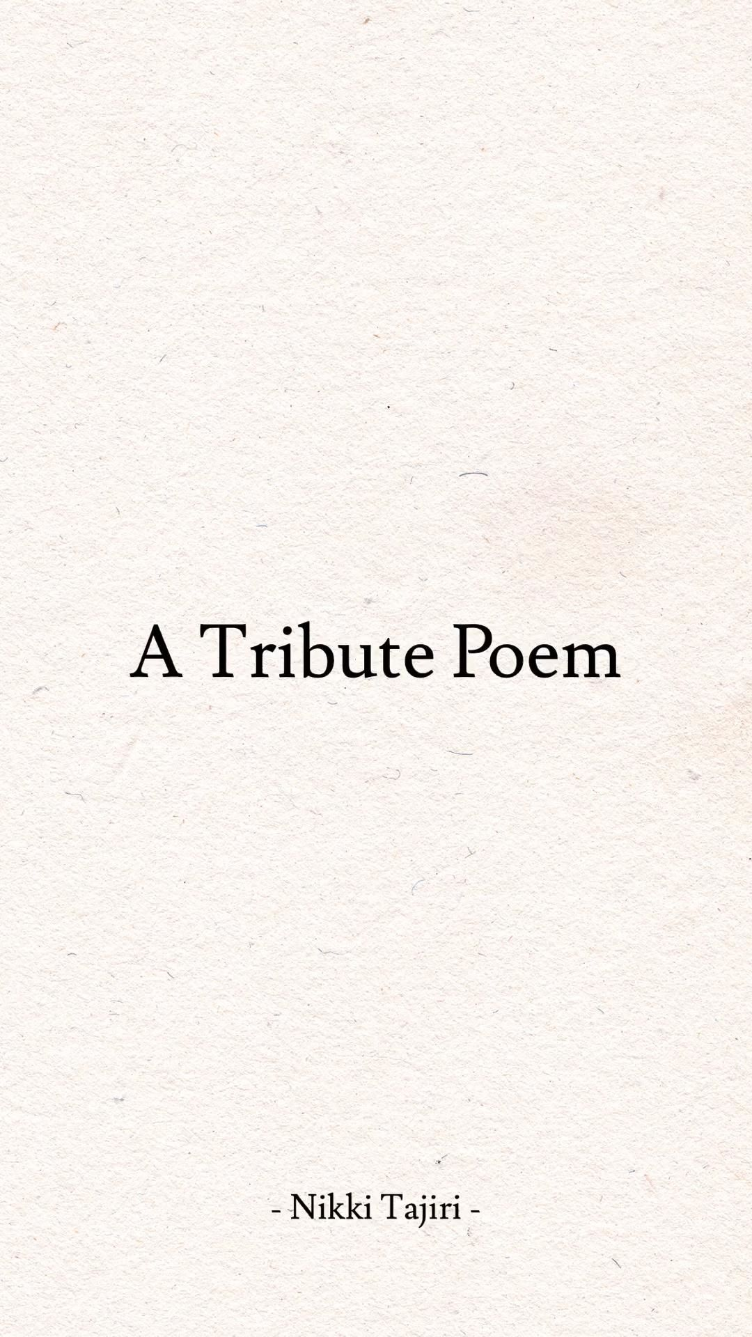 Funeral Poem | Tribute to a Loved One