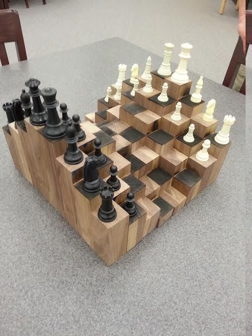 3d Chess Board 3d Chess Chess Woodworking Projects