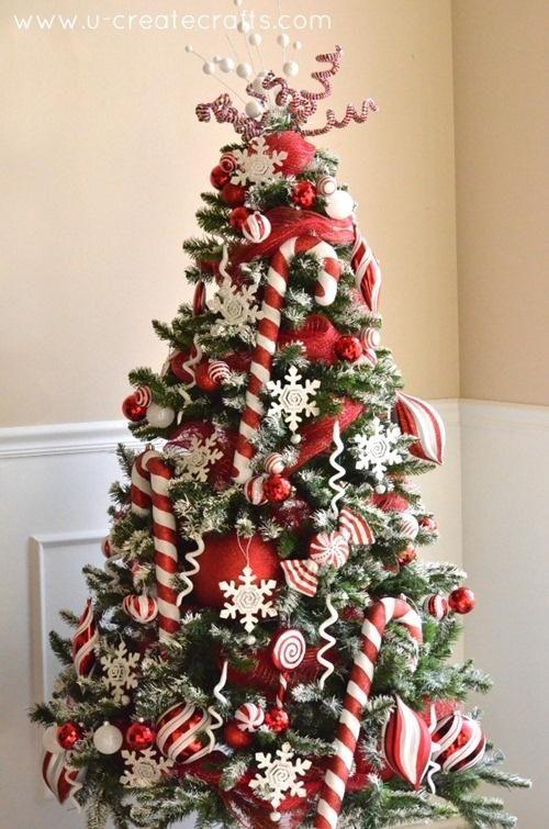 Peppermint Christmas Tree Christmas Tree Themes Amazing Christmas Trees Peppermint Christmas