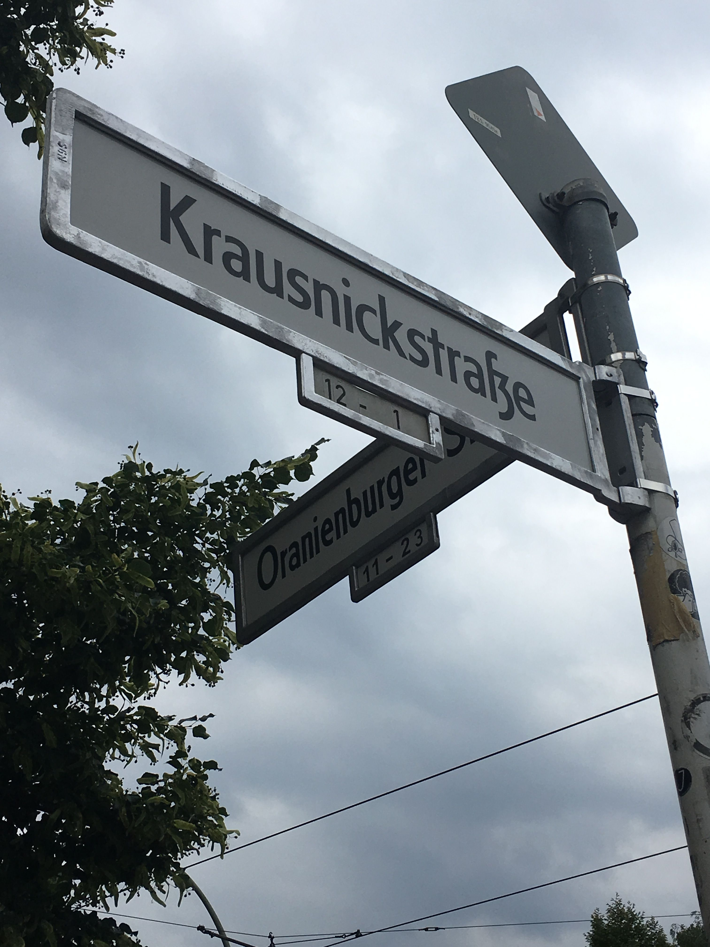Cruce de calles en Berlín, Alemania