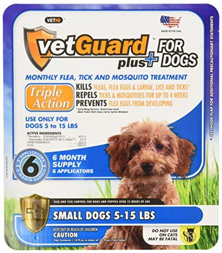 Vetguard Plus Flea And Tick Drops For Small Dogs 5 15 Lbs 6 Month Supply Read More At The Image Link Tick Treatment For Dogs Flea And Tick Fleas