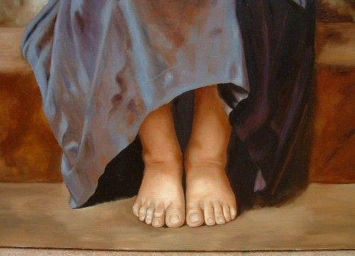 """""""Somos apenas humanos estúpidos caindo de um abismo, tentando se segurar em algo antes de chegar no chão.""""    Arte:William Bouguereau - La lecon difficile"""