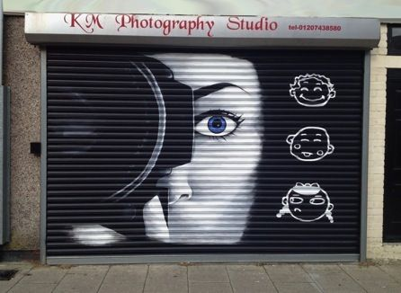 Shop Shutter Art Mural Street Art Paint Shop