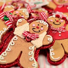 SET of 5 Claydough Gingerbread Girl & Boy Kurt Adler Christmas Ornaments C203