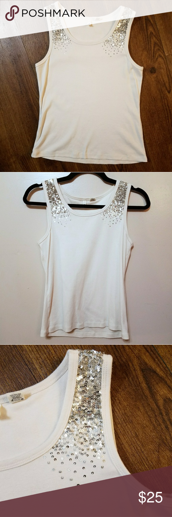 f6ede120d34ae2 Anthropologie moth nude cascading sequin tank top This tank top from  anthropologie brand Moth is very
