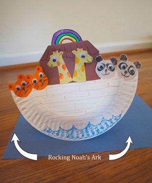 Kids noah 39 s ark craft kids recycled materials for Noah s ark preschool craft