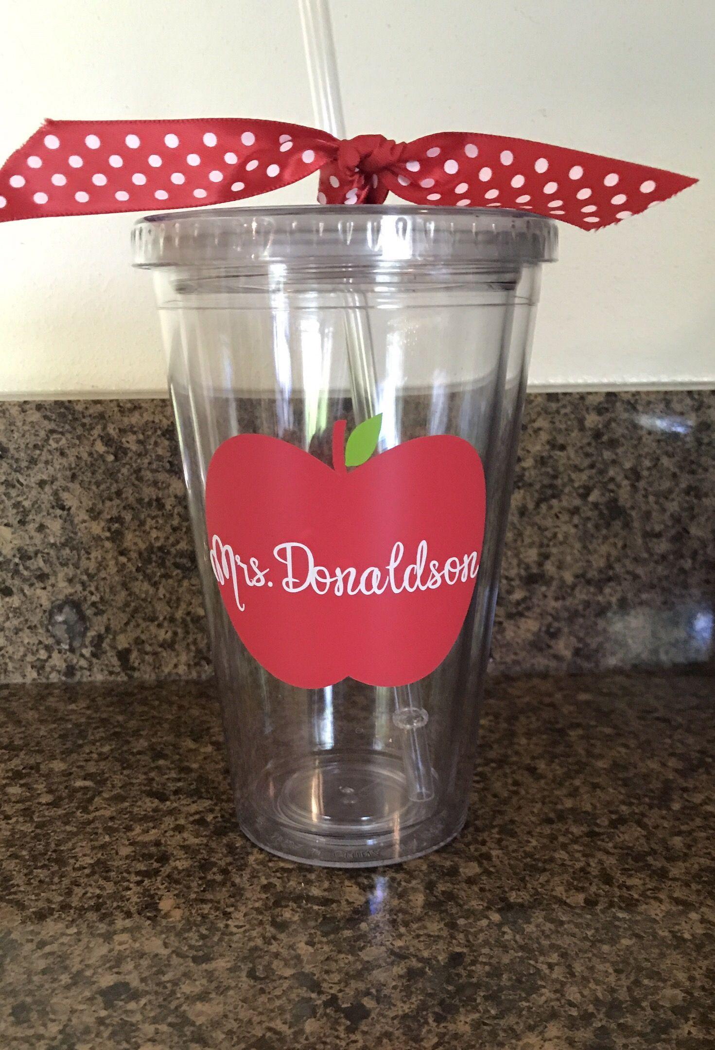 Personalized teacher tumbler teacher appreciation gift
