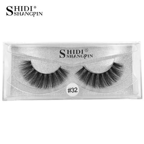 84155b8736e SHIDISHANGPIN 1 Pair mink eyelashes 3d mink natural long lashes 1cm-1.5cm  false eyelashes 1 box eyelash extension 3d maquiagem