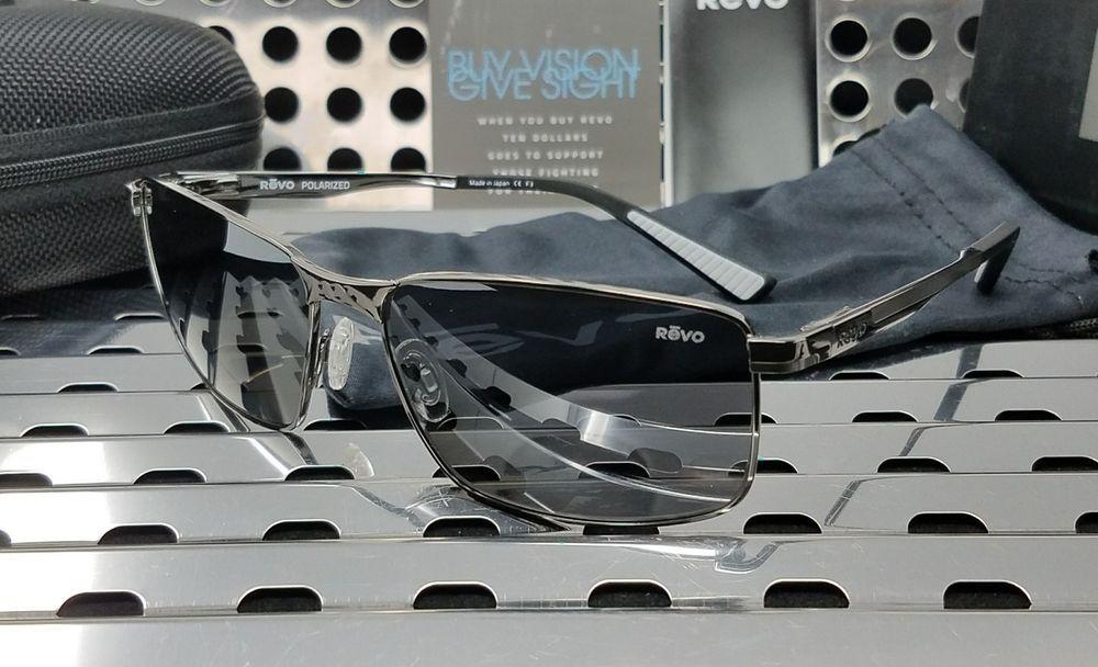 d4d4054aebd New Revo KNOX RE1047-00 Sunglasses Polished Gunmetal w  Gray Polarized  (eBay Link