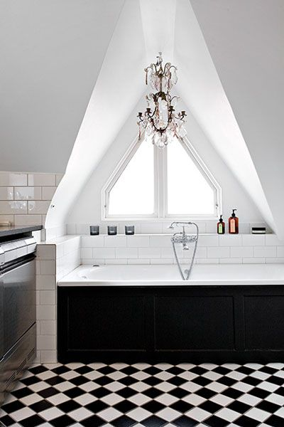 Badkamer in zwart wit | INTERIEUR ✽ Badkamers | Bathrooms ...