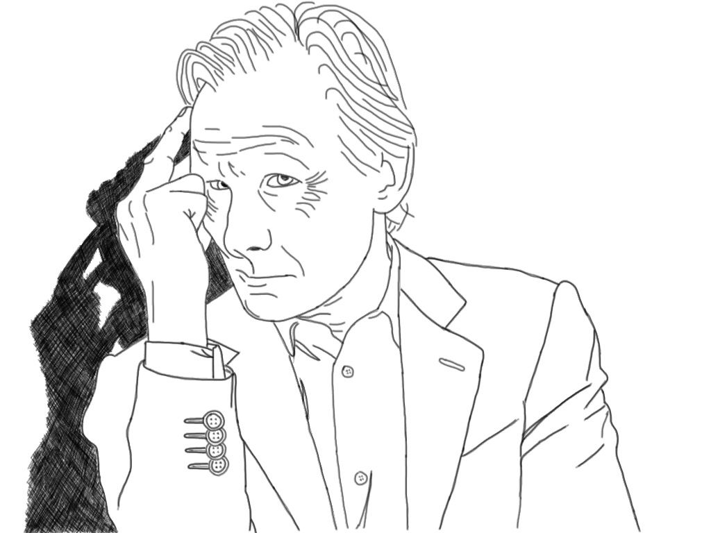 iPad drawing of Bill Nighy by Mintie