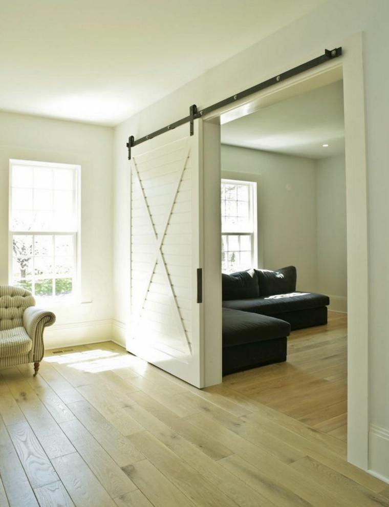 Holzschiebetur Fur Den Innenbereich Loft Wohnung Schiebetur