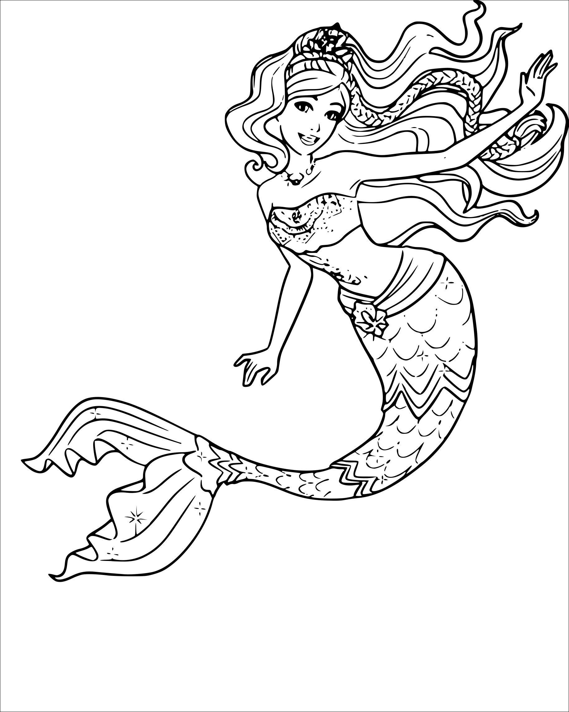20+ Beautiful mermaid barbie mermaid coloring pages ideas