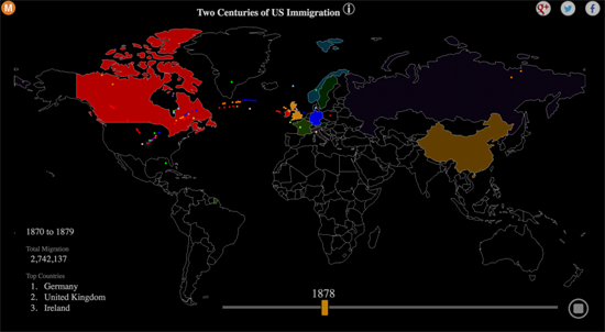 two centuries of us immigration visualized http interactive maphistoryblogbrain