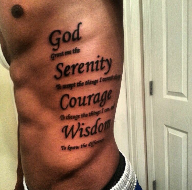 Side Tattoo Tattoo Serenityprayer Side Tattoos Tattoo Inspiration Men Tattoos