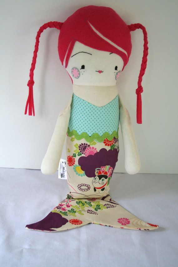 Rag Doll Cloth Doll Handmade Doll Ragdoll Fabric by OhSewCuteByMel, $92.00