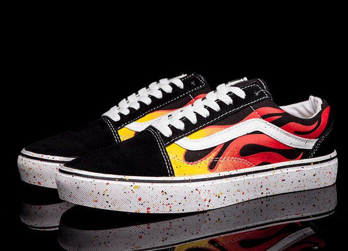 402ae44b62 Vans Ghost Rider Fire Colorful Inkjet Old Skool Skate Shoes  Vans Australia