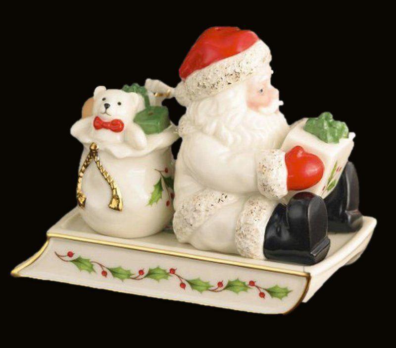 Lenox Christmas Salt Pepper Shaker Santa Sleigh Set Dinnerware NIB Serving NEW #Lenox & Lenox Christmas Salt Pepper Shaker Santa Sleigh Set Dinnerware NIB ...