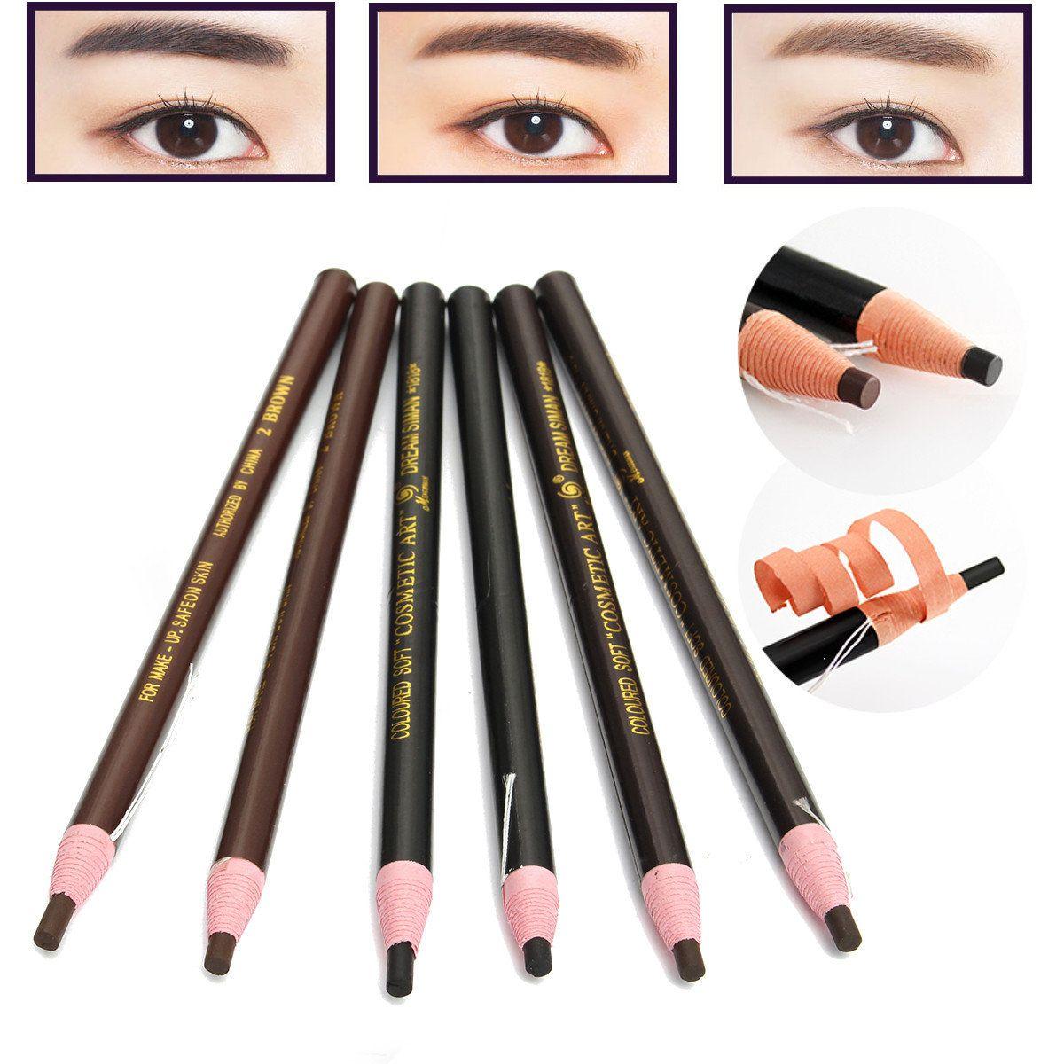 12pcs Eyebrow Pencil Eyeliner Set Waterproof Eye Makeup Pen Cosmetic