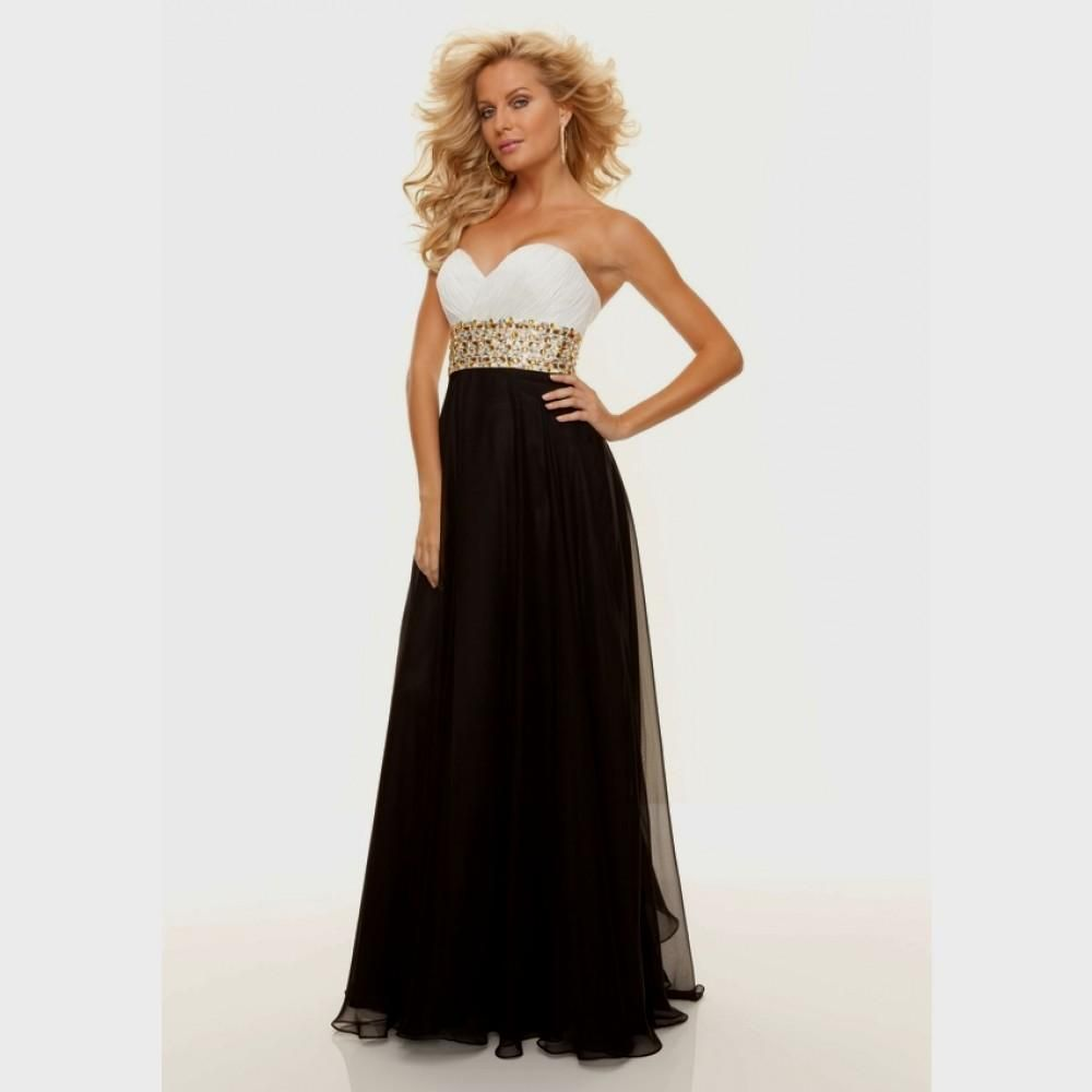 black and white formal dresses for juniors | Black party dresses ...