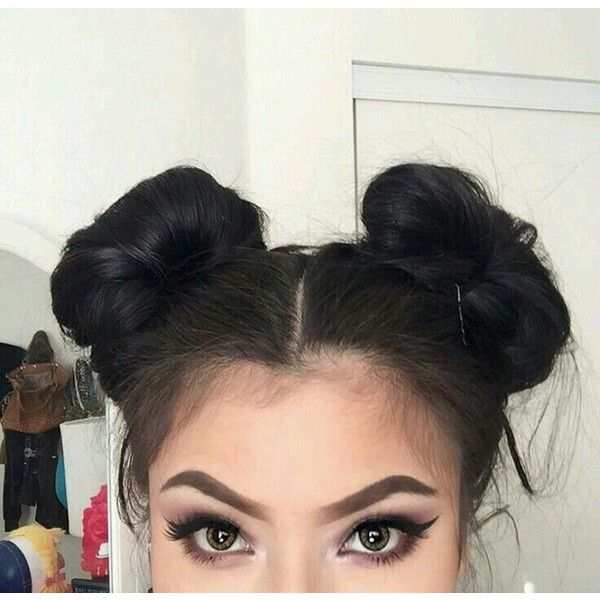 User Upload Liked On Polyvore Featuring Hair Hair Styles Girly Hairstyles Bun Hairstyles