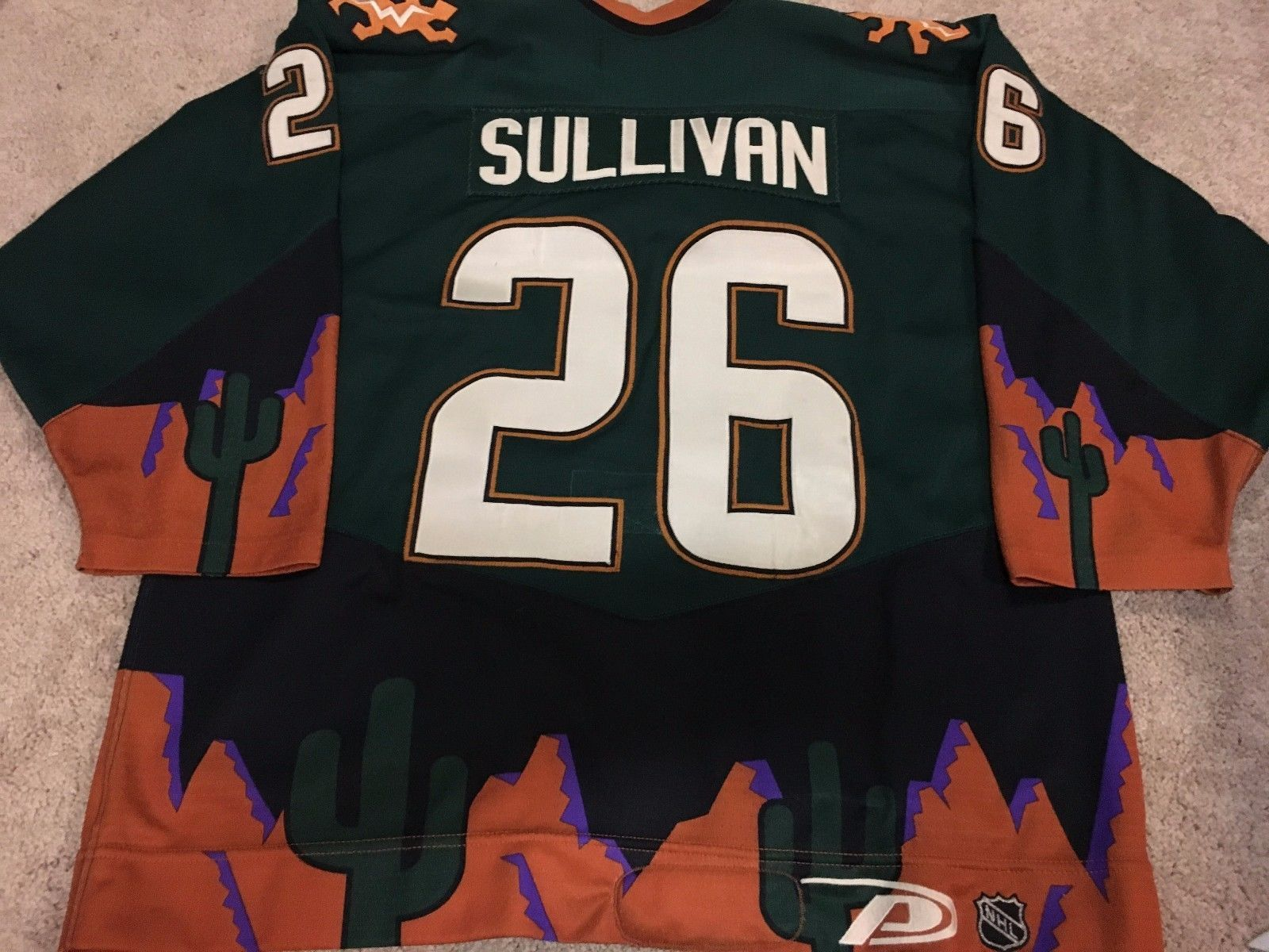 huge discount 7f1e8 b4158 MIKE SULLIVAN 99'00 Phoenix Coyotes Alternate Penguins Game ...