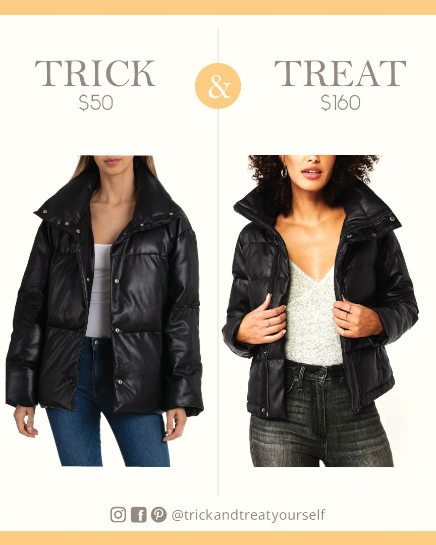 Abercrombie Faux Leather Puffer Jacket Dupe Jackets Puffer Jackets Clothes