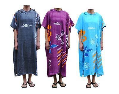Alder Adults Hooded Beach Changing Robe Beach Poncho Towel
