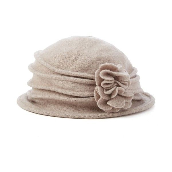 d6f7dd3764d Scala Knit Wool Flower Cloche Hat ( 28) ❤ liked on Polyvore featuring  accessories